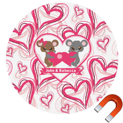 Valentine's Day Round Car Magnet (Personalized)
