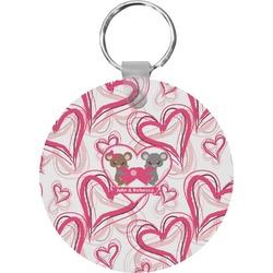 Valentine's Day Round Keychain (Personalized)