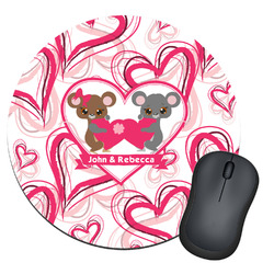Valentine's Day Round Mouse Pad (Personalized)