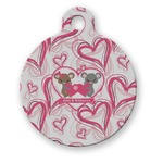Valentine's Day Round Pet Tag (Personalized)
