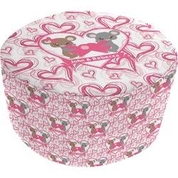 Valentine's Day Round Pouf Ottoman (Personalized)