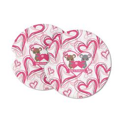 Valentine's Day Sandstone Car Coasters (Personalized)