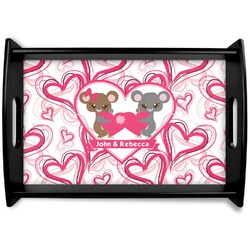Valentine's Day Black Wooden Tray (Personalized)