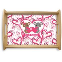 Valentine's Day Natural Wooden Tray (Personalized)