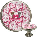 Valentine's Day Cabinet Knob (Silver) (Personalized)