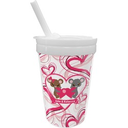 Valentine's Day Sippy Cup with Straw (Personalized)