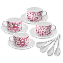 Valentine's Day Tea Cup - Set of 4 (Personalized)