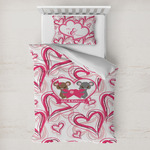 Valentine's Day Toddler Bedding w/ Couple's Names