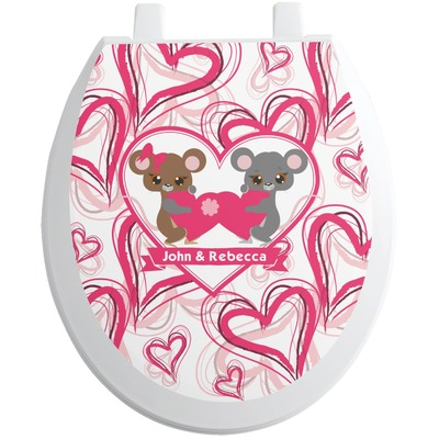 Valentine's Day Toilet Seat Decal (Personalized)