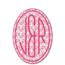 Valentine's Day Monogram Decal - Custom Sized (Personalized)