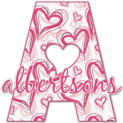 Valentine's Day Name & Initial Decal - Custom Sized (Personalized)