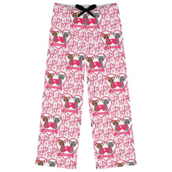 Valentine's Day Womens Pajama Pants - XL (Personalized)