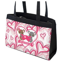 Valentine's Day Zippered Everyday Tote w/ Couple's Names