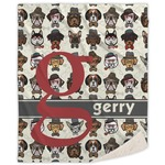 Hipster Dogs Sherpa Throw Blanket (Personalized)
