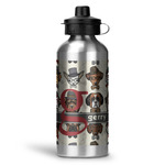 Hipster Dogs Water Bottle - Aluminum - 20 oz (Personalized)