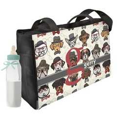 Hipster Dogs Diaper Bag (Personalized)