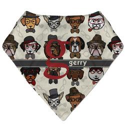 Hipster Dogs Bandana Bib (Personalized)