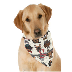 Hipster Dogs Dog Bandana Scarf w/ Name and Initial