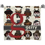 Hipster Dogs Full Print Bath Towel (Personalized)