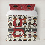 Hipster Dogs Duvet Cover (Personalized)