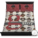 Hipster Dogs Duvet Cover Set (Personalized)