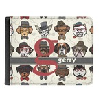 Hipster Dogs Genuine Leather Men's Bi-fold Wallet (Personalized)