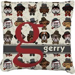Hipster Dogs Faux-Linen Throw Pillow (Personalized)