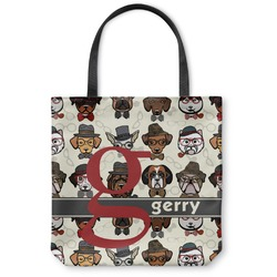 Hipster Dogs Canvas Tote Bag (Personalized)