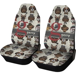 Hipster Dogs Car Seat Covers (Set of Two) (Personalized)