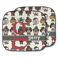 Hipster Dogs Car Sun Shade - Two Piece (Personalized)