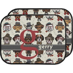 Hipster Dogs Car Floor Mats (Back Seat) (Personalized)