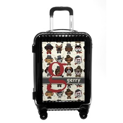 Hipster Dogs Carry On Hard Shell Suitcase (Personalized)