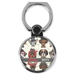 Hipster Dogs Cell Phone Ring Stand & Holder (Personalized)