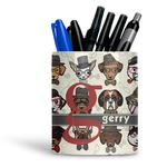 Hipster Dogs Ceramic Pen Holder