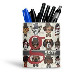 Hipster Dogs Ceramic Pen Holder