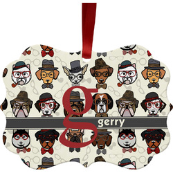 Hipster Dogs Ornament (Personalized)