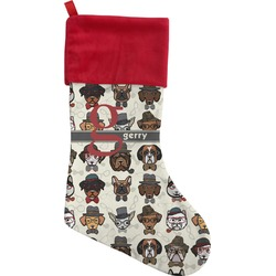 Hipster Dogs Christmas Stocking - Single-Sided (Personalized)