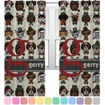Hipster Dogs Curtains (2 Panels Per Set) (Personalized)
