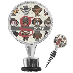 Hipster Dogs Wine Bottle Stopper (Personalized)