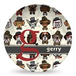 Hipster Dogs Microwave Safe Plastic Plate - Composite Polymer (Personalized)