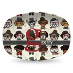 Hipster Dogs Plastic Platter - Microwave & Oven Safe Composite Polymer (Personalized)