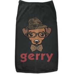 Hipster Dogs Black Pet Shirt (Personalized)