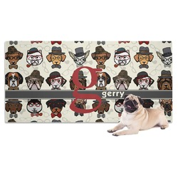 Hipster Dogs Pet Towel (Personalized)
