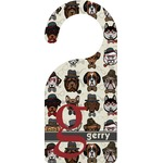 Hipster Dogs Door Hanger (Personalized)