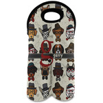 Hipster Dogs Wine Tote Bag (2 Bottles) (Personalized)