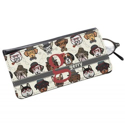 Hipster Dogs Genuine Leather Eyeglass Case (Personalized)
