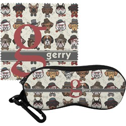 Hipster Dogs Eyeglass Case & Cloth (Personalized)