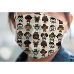 Hipster Dogs Face Mask Cover (Personalized)