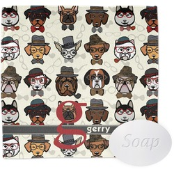 Hipster Dogs Washcloth (Personalized)