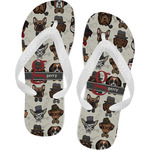 Hipster Dogs Flip Flops (Personalized)